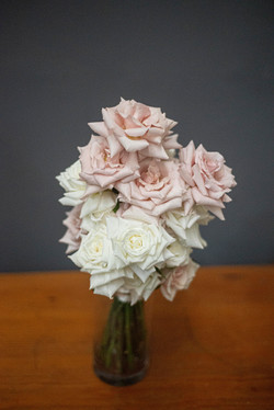 Nudes & cream rose filled bouquet