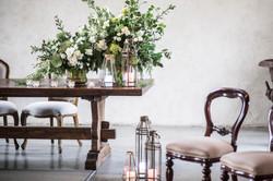 Ceremony fresh floral urns