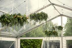 Fresh foliage hanging arrangement