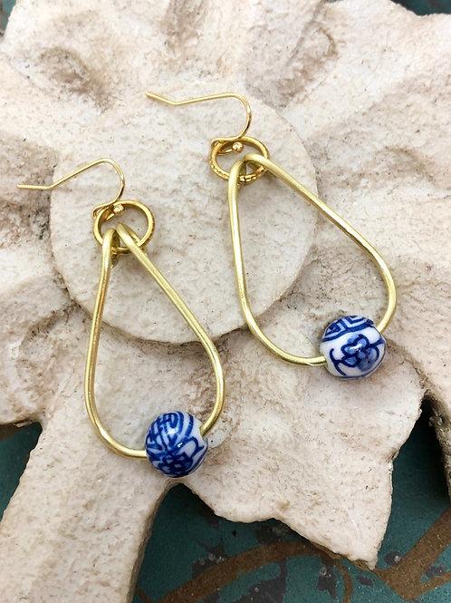Chinoiserie Teardrop earrings