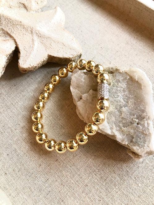 Gold Beads & Crystal Bracelet 2