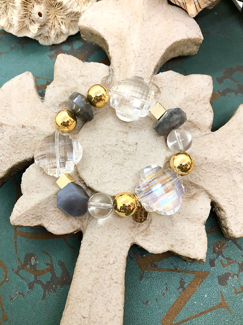 Labradorite Chunky Crystal bracelet