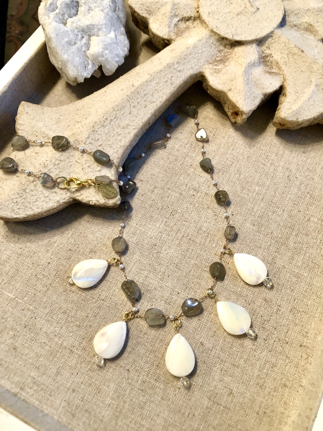 The Sofia Collection: Labradorite & Pearls Necklace
