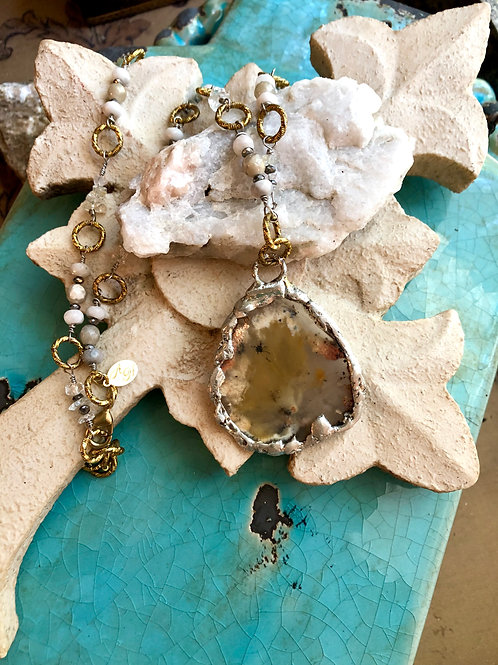 Fancy Plume Agate Necklace