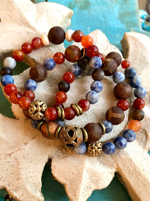 Multi Gemstone Bracelet set