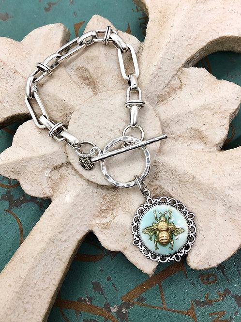 Bonton Farms Line: Silver Bumbles Filigree bracelet