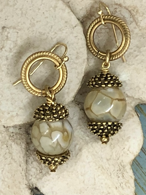 Crackles and Glam earrings