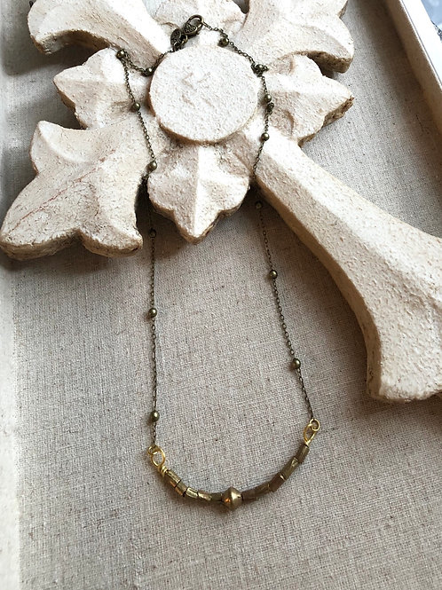 Short African Brass Necklace
