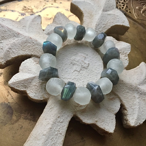 Labradorite and African Glass