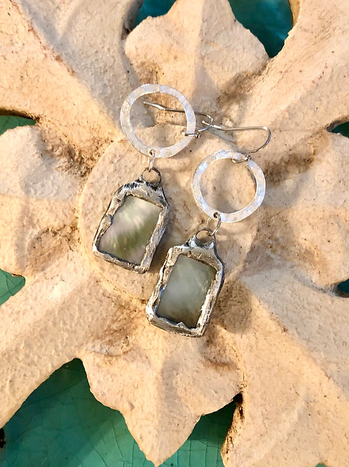 Soldered Mother of Pearl earrings