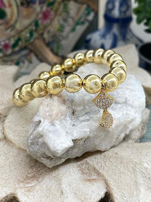 Pave Dangles Golden bracelet