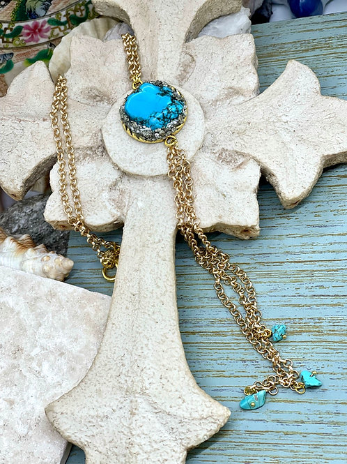 Rolling in Turquoise necklace