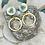Thumbnail: Bonton Farms Line:  Dragonfly white dangles earrings