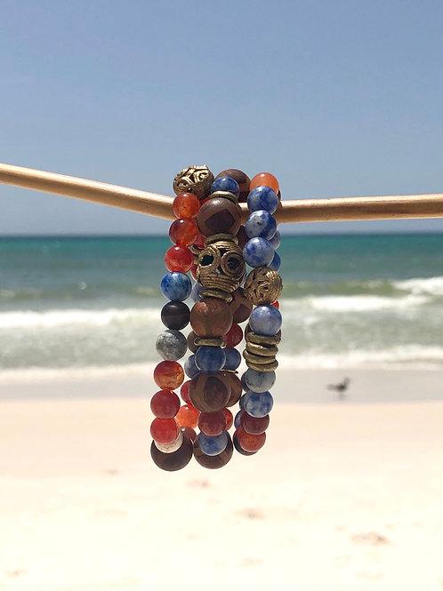 Multi Gemstone Bracelet Stack