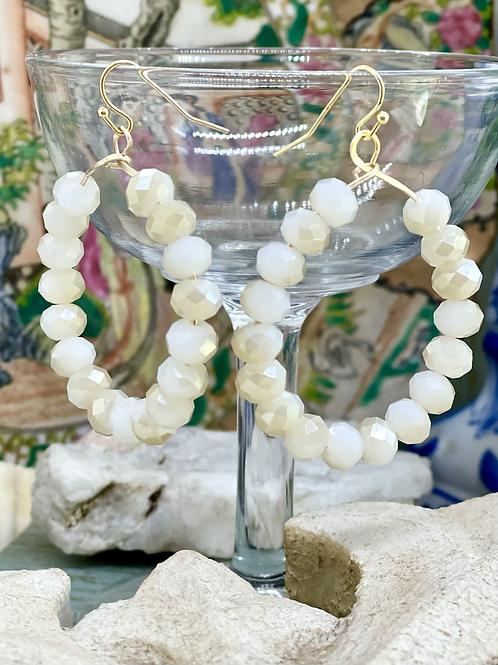 White Sparkles Hoop earrings