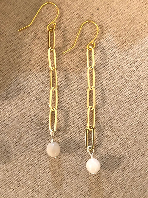 Paper Clip Chain Earring