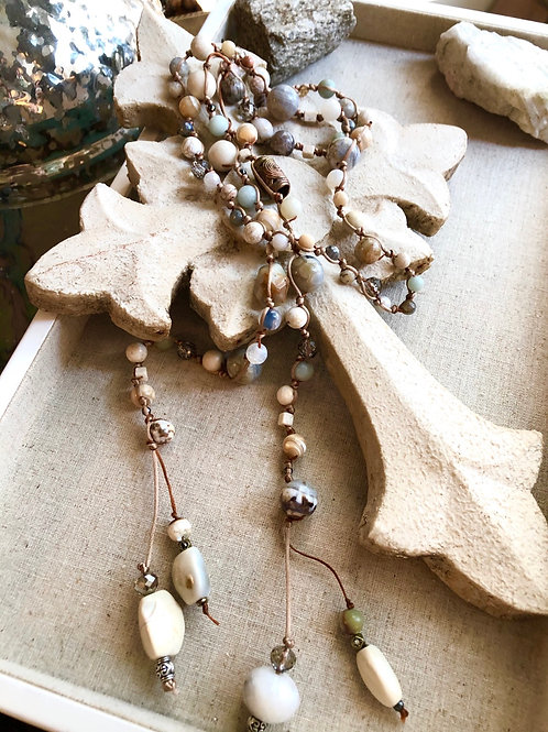 Lariat and Gemstones necklace