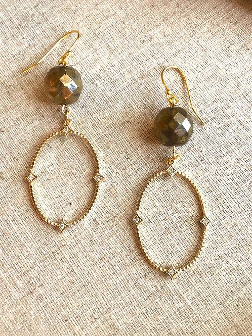 Czech Bead Elegance earrings