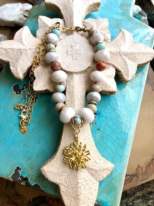 Crazy Lace Coral Necklace