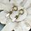 Thumbnail: Teardrop golden Dangle earrings