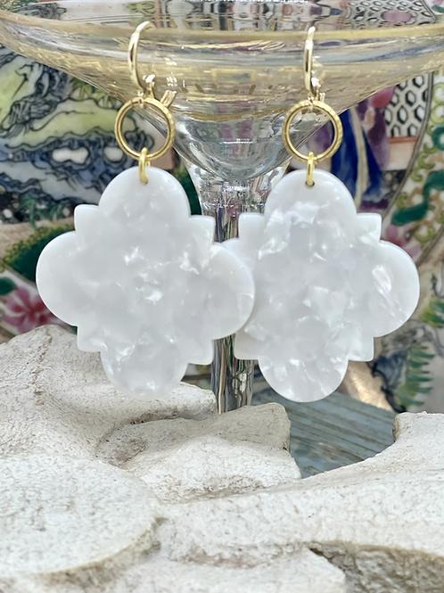 White Clover Earrings