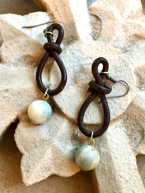 Leather Loops and Agate #2