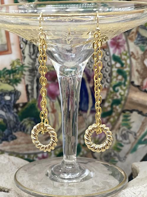 Links of Gold Dangle earrings