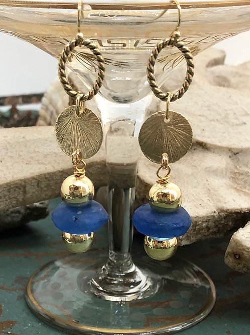Oceans and Pansys Collection earrings