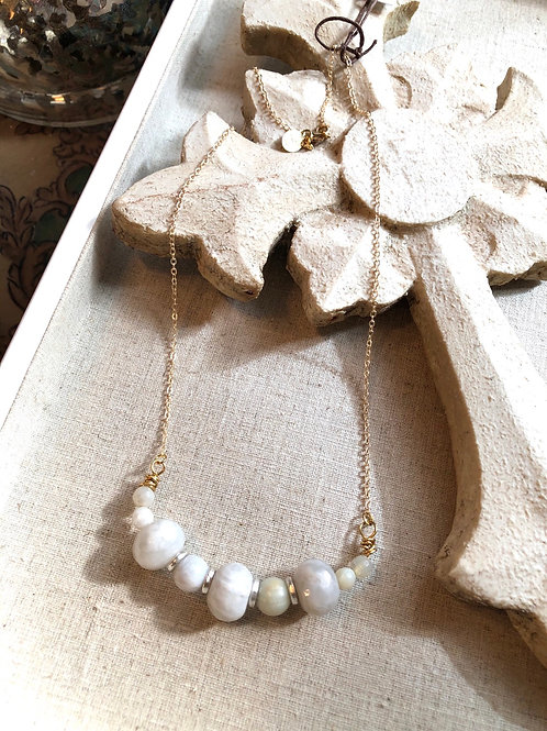 The Sofia Collection: Short Crazy Lace Agate Necklace