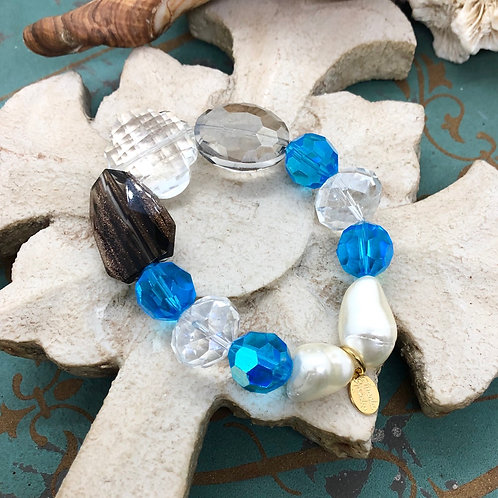 Crystals Galore Blue Chunky Bracelet
