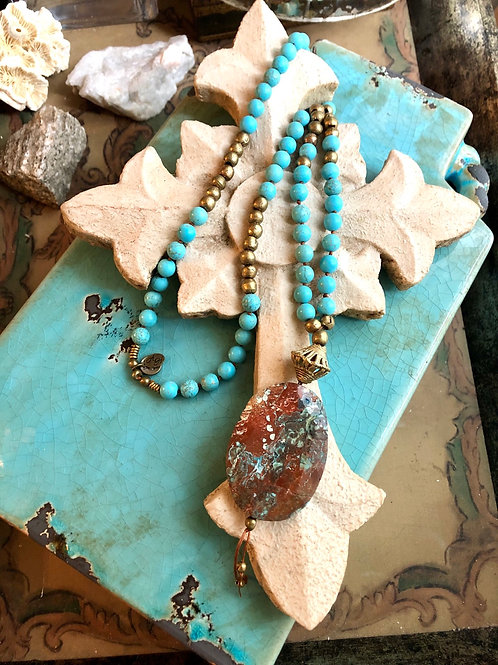 Ocean Jasper and Turquoise Howlite