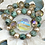 Thumbnail: African Turquoise and Crystals bracelet set