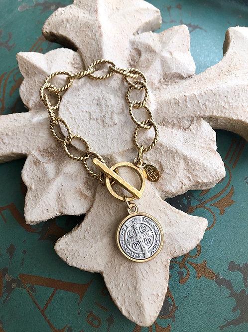 St. Benedict Single Link bracelet