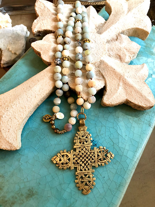 Ethiopian Cross and Amazonite
