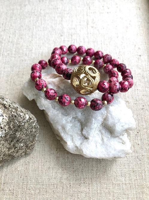 Maroon Jade bracelets
