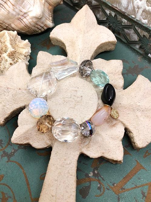 Stone & Crystal chunky bracelet