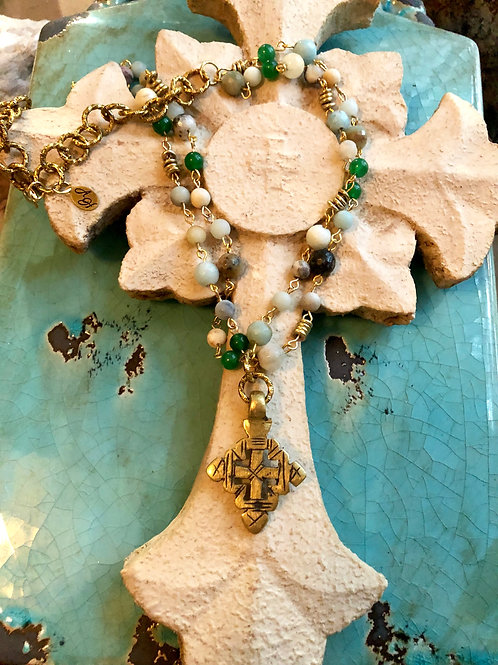 Ethiopian Cross on rosary chain