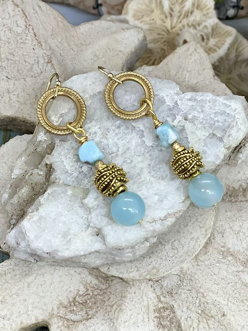 Larimar Blues Dangle Earrings