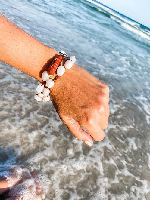 Boho Style Lace Agate Bracelet