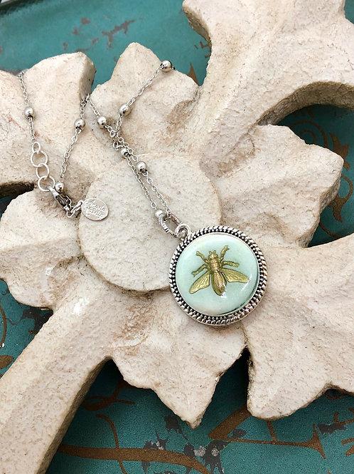 Bonton Farms Line: Silver Honey Bee Necklace