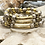 Thumbnail: Two Toned Gold bar bracelet set
