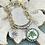 Thumbnail: Bonton Farms Line: Silver and Gold Honey bracelet