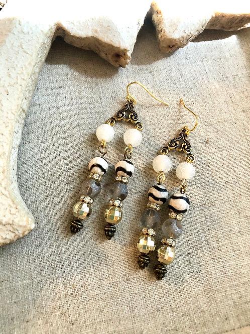 Bandit dangle earrings