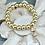 Thumbnail: Pave Dangles Golden bracelet