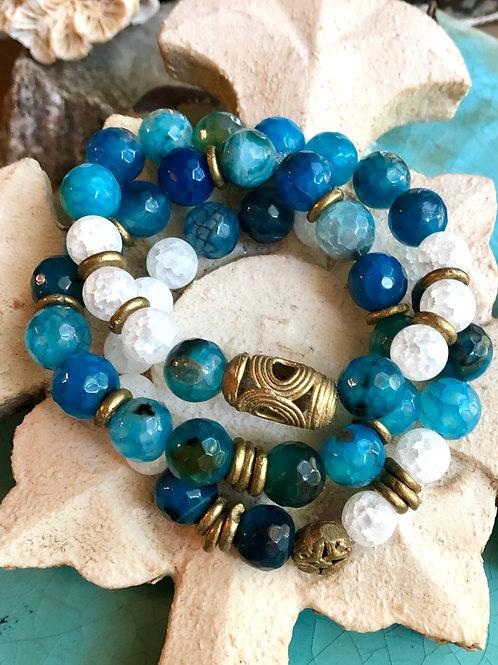 Ocean Blue bracelet set
