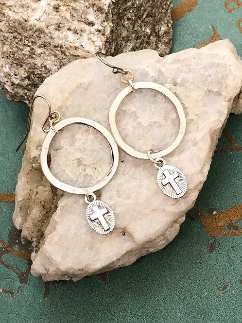 Silver Cross dangles