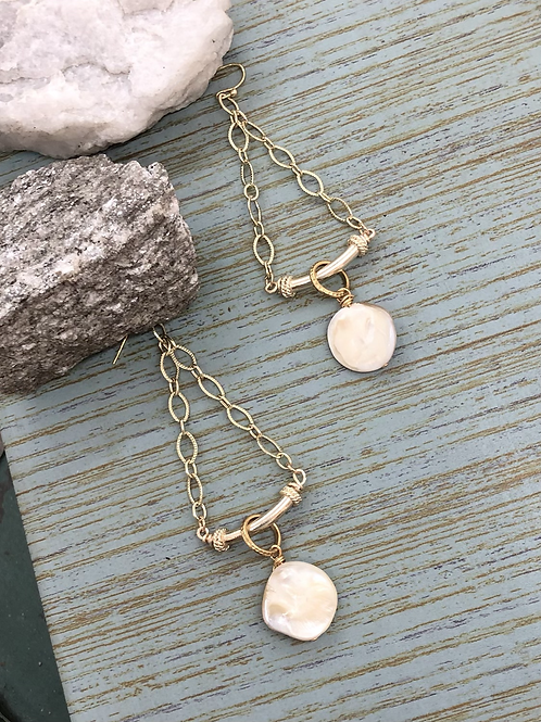 Mother Of Pearl Chain Dangles