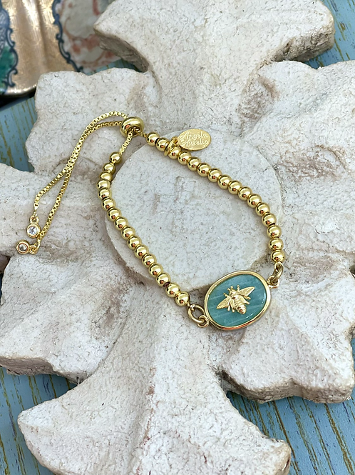 Bonton Farms Line: Dainty Gold Honey Bee bracelet
