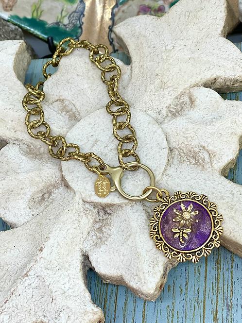 Bonton Farms Line: Purple Dragonfly bracelet