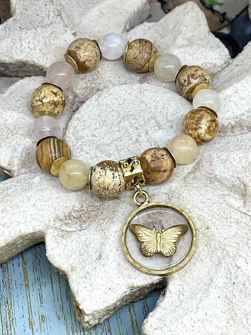 Bonton Farms Line: Jasper Butterfly Bracelet